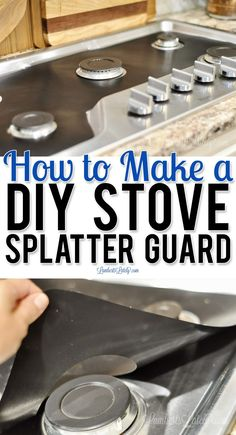 This post shows how to make a DIY Stove Splatter Guard - perfect for keeping kitchens/gas stovetops clean! This guard covers a gas stove to protect stainless steel from spills and stains. Stove Guard, Splatter Guard, Vinegar And Water, Clean And Shiny, Chalk Markers, Gas Stove, Chef Recipes, Easy Diy, Cleaning
