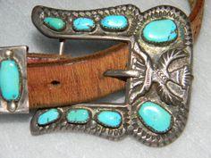Horace Iule Sterling Silver Turquoise Knifewing Ranger Set  