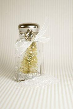 Bottle Brush Tree in Salt Shaker by mothsandrustshop on Etsy