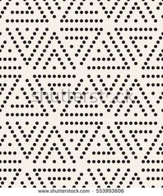 Vector seamless pattern. Modern stylish texture. Repeating geometric tiles with dotted triangles. Trendy hipster background. Small circles form triangular minimalistic ornament.