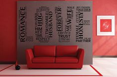 Love word cloud Vinyl Wall Decal LOVE made of by DefinedDesignz