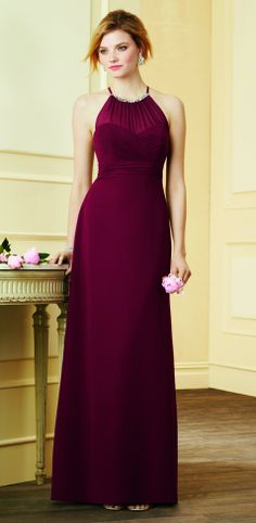 "Order this gorgeous Dress 7290L in Mahogany. ""Try it on""!  Go to your Local Alfred Angelo Bridal boutique and receive 25.00 off your bridesmaids dresses for our Annual ""Girls Night Out ""event. May 8th. From 6pm-8pm"