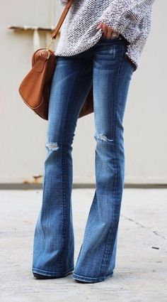 Flares — because skinny jeans haven't always been the only way.