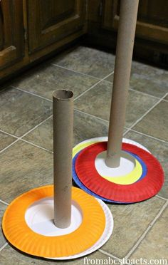 Camping Games - Make your own ring toss game!