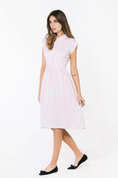 Piper Dress (pink stripe)