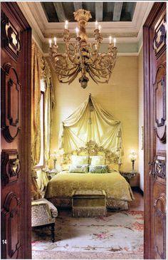 Venice Palazzo of Walid and Christina Juffali. Guest Room