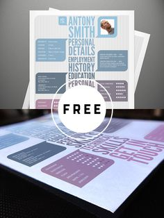 98 Awesome Free Resume Templates in this post are made by creative designers for designers and these resume templates are fully editable, so you can replace the text, change the name, add your phone number and address of your own. Best Resume Template, Creative Resume Templates, Psd Templates, Free Resume, Art Web, Web Design Trends, Resume Design, Photography Business, Photoshop Actions