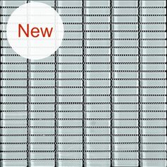 "Solid Glass Mosaic - Sage - 1"" x 2"" Stacked Glass - $8.29 Per Square Foot - Free Shipping"