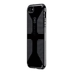 Speck Products CandyShell Grip - Case for cellular phone - plastic, rubber - black, slate - for Apple iPhone 5