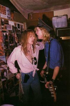 Axl Rose and Duff of Guns N' Roses, mid '80s #axlrose #waxlrose #gnr #gunsnroses #rockstar #rockicon #bestsingerever #hottestmanalive #livinglegend