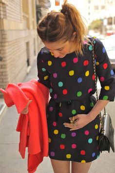 Discover this look wearing Light Yellow Daisy Vintage Moschino Shoes, Black Polka Dot Kate Spade Dresses tagged polka dots - Lady Like Appeal by ladyalamode styled for Classic, Everyday in the Spring Dot Dress, Dress Me Up, Cute Dresses, Cute Outfits, Love Fashion, Womens Fashion, Modest Fashion, Trends, Swagg