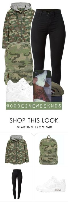"""11/19/15"" by codeineweeknds ❤ liked on Polyvore featuring Billabong, J Brand, NIKE, women's clothing, women, female, woman, misses and juniors"