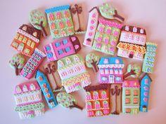 Postreadicción galletas decoradas, cupcakes y pops: Galletas decoradas: casitas