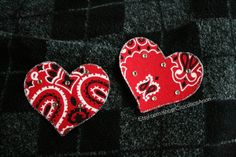 Red Bandana Nipple Pasties Set by CrocoticsAnon on Etsy