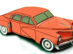 Tucker Torpedo (Tucker 48) Paper Car Free Vehicle Paper Model Download