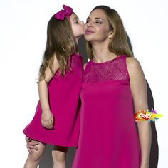 We are doing some maintenance on our site. Bridesmaid Dresses, Wedding Dresses, Kids Fashion, Pink Sundress, Hot Pink Roses, Mom And Girl, Stylish Dresses, Girls Dresses, Tulle