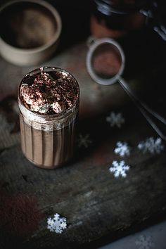hot chocOlate with cardamon cinnamon coffee liqueur & whipped cream
