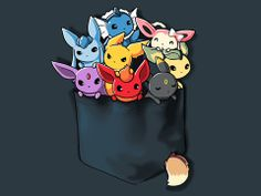 I WANT IT! lol Pocket Full of Monsters, adorable video game / anime shirt from TeeTurtle.