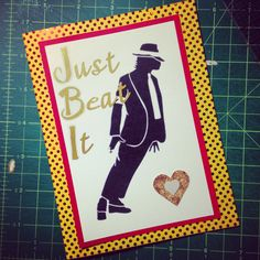 Michael Jackson Just Beat It Greeting Card Custom Order Made Specifically For A