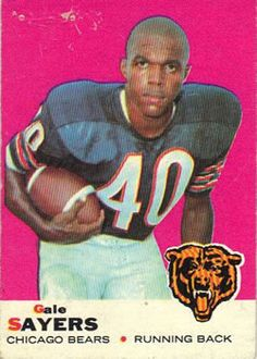 Nfl 49ers, Giants Football, Bears Football, School Football, Old Baseball Cards, Football Cards, Old Football Players, Gale Sayers, Football Memorabilia