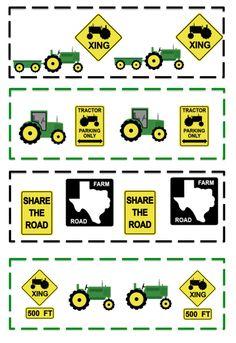 Preschool Printables: Free Little Green Tractor Printable