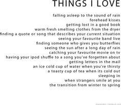 things i love.