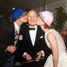 Kim & I giving orchestra leader Lester Lanin some love at our wedding reception. April 26, 1997. #TerrellSandefur #LesterLanin #KimSandefur