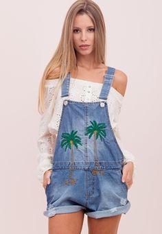 Macaquinho Jeans Coqueiros