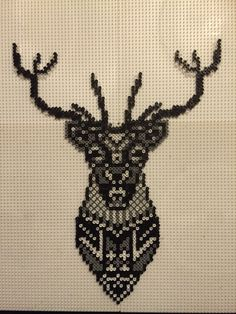 Hjort sort hvid grå i mini Made by Sisse Nielsen
