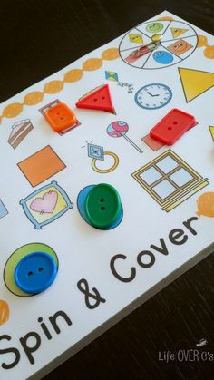 4 FREE activities for learning shapes for readers and non-readers. Flip-book, sentence cards, memory and a spin & cover game that is simply adorable! You won't want to pass this one by!