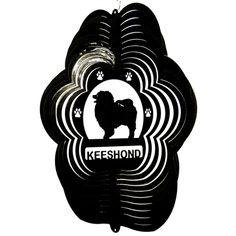 "12"" Keeshond - Black Starlight Wind Spinner. #keeshond"