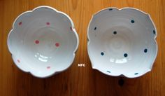 ceramic flower bowls
