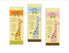 Personalized Baby Boy Shower Favor Bookmarks  set of 10
