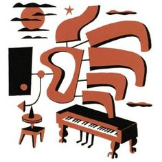 Coda   Jim Flora Jazz Poster, Flora And Fauna, Print Logo, Album Covers, Printmaking, Illustrators, Cartoon, Gallery, Prints