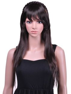 Abhair- Stunning beautiful long Sassy Celebrity curly wave wig full wigs by Abhair. $13.99. Size: free size, and size adjustable. Easy clip. Beware of paparazzi when wearing this synthetic wig with side sweeping bangs and light curl at the ends, you may be mistaken for someone else.