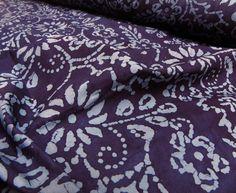 Such a pretty floral design on this batik