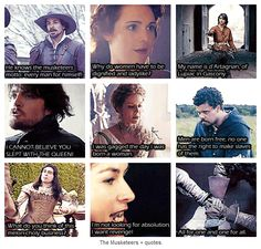 The Musketeers + quotes.