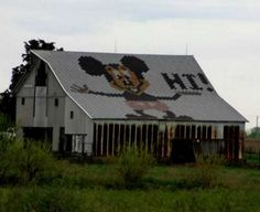 Mickey Mouse barn roof ... my last choice for a barn .. but cute :)