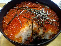 Hokkaido, chirashizushi with salmon roe Vietnamese Recipes, Filipino Recipes, Indian Food Recipes, Asian Recipes, Japanese Dishes, Japanese Food, Korean Food, Chinese Food, Salmon Roe