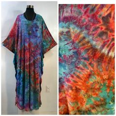 Ice dyed one size plus bamboo blend caftan, kaftan. by qualicumclothworks on Etsy Ice Dyeing, Caftans, Cotton Spandex, Bamboo, Tie Dye, Handmade, Stuff To Buy, Etsy, Tops
