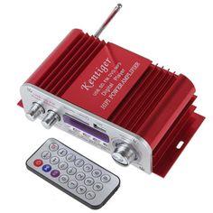 HY3006 DC 12V Sound Mode Digital Display HIFI Car Power Amplifier Support USB / SD / MMC Card