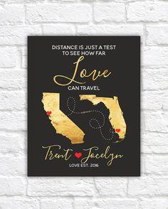 wedding map gift for couples art bridal shower gift love travels