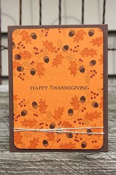 Happy Thanksgiving Card by Heather Nichols for Papertrey Ink (August 2014)
