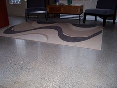 """Aggregate Polished concrete floor : """"Depending on the diamond grit you use to polish a floor, you can achieve different ranges of sheen, from matte to a glassy mirror-like finish. There are also different amounts of aggregate exposure, ranging from cream finish with no exposure to a full aggregate look."""""""