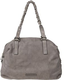 Coccinelle Large Leather Bag in Gray (steel) Skort f4f77514cff57