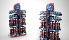 This is a project developed for InBev in Brazil. The briefing was to create POP materials for 3 InBev brands: Pepsi, Guaraná Antarctica and Sukita. Materials should be innovative and graphics should be changeable.