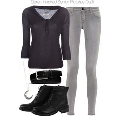 """Derek Inspired Senior Pictures Outfit"" by veterization on Polyvore"