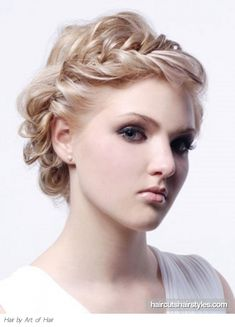 good formal updo for short hair.