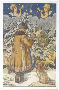 Sbírky Východočeského muzea v Pardubicích: Pohlednice » Přání: Vánoce » tp-4129.jpg
