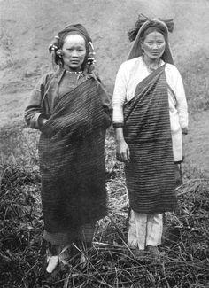 TAIWAN: Formosa Taiwan: Atayal women, Formosa Taiwan; Tattooing print, 1900